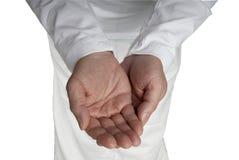 приданный форму чашки пустой мужчина рук открытый Стоковое Фото
