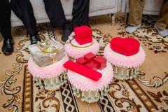 Приданое свадьбы, замужество приданого в свадьба Таиланде, Таиланде, стоковые фотографии rf