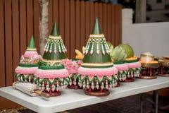 Приданое свадьбы, замужество приданого в свадьба Таиланде, Таиланде, стоковые изображения