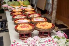 Приданое свадьбы, замужество приданого в свадьба Таиланде, Таиланде, стоковое фото rf