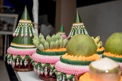Приданое свадьбы, замужество приданого в свадьба Таиланде, Таиланде, стоковое изображение rf