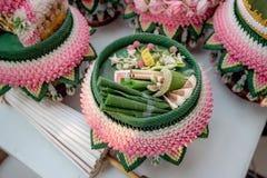 Приданое свадьбы, замужество приданого в свадьба Таиланде, Таиланде, стоковая фотография