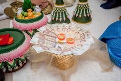 Приданое свадьбы, замужество приданого в свадьба Таиланде, Таиланде, стоковые фото