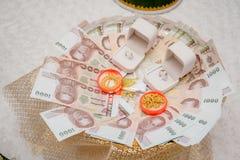 Приданое свадьбы, замужество приданого в свадьба Таиланде, Таиланде, стоковые изображения rf