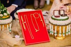 Приданое свадьбы, замужество приданого в свадьба Таиланде, Таиланде, стоковая фотография rf