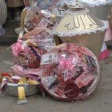 Приданое свадьбы проданное в рынке стоковое фото rf