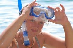 приденный snorkeling Стоковое Изображение