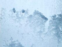 Придерживаемый снег на ясном стекле Стоковое Фото