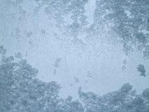 Придерживаемый снег на ясном стекле Стоковая Фотография