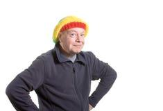 придурковатое человека старое Стоковая Фотография