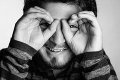 Придурковатый портрет молодого человека стоковое изображение