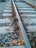 приезжает railway платформы, котор нужно натренировать Стоковые Изображения RF
