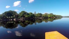 Приезжающ на Ucaima, национальный парк Canaima, Венесуэла акции видеоматериалы