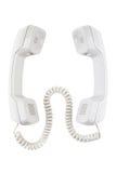 2 приемника телефонов соединенного с кабелем Стоковая Фотография RF