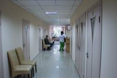 Прием в свете больницы новом стоковое фото