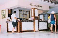 Прием на гостинице Alanya пляжа Kleopatra, Турции Стоковые Фотографии RF