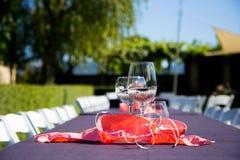 Прием по случаю бракосочетания бокала Стоковая Фотография RF