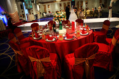 Прием по случаю бракосочетания в Китае Стоковое Изображение