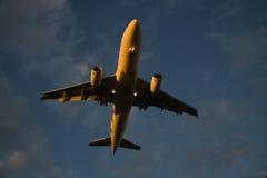 приземляться поздно Стоковое Изображение