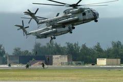 приземляясь морской пехотинец Стоковые Фотографии RF