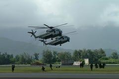 приземляясь морской пехотинец Стоковые Фото