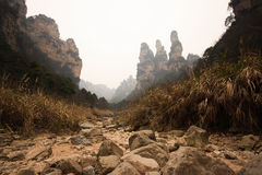 Приземлитесь взгляд scape tien mansan на zhangjiajie Стоковые Фото