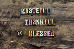 Признательное благодарное благословленное оформление любов сердца стоковое изображение
