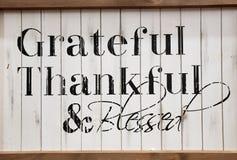 Признательное благодарное и благословленный стоковое фото rf