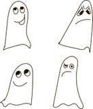 Призраки, светотеневой, рисуя, эмоции: запутанность, daydreaming, обман, мрак, сомнение, недоверие, застенчивость, хеллоуин бесплатная иллюстрация