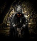 Призрак хеллоуина в лесе Стоковое Фото
