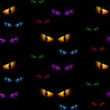 Призрак хеллоуина наблюдает безшовный вектор предпосылки Стоковое Изображение RF