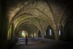Призрак Cellarium аббатства фонтанов стоковое фото rf