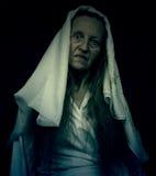Призрачная страшная диаграмма женщины Стоковые Фото