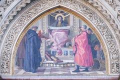 Призрение среди основателей флорентийских филантропических заведений, собор Флоренса Стоковые Фото