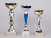 приз 3 чашки стоковая фотография rf