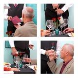 Приказывая вино в ресторане Стоковые Фотографии RF