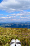 Прикарпатские горы в временени Стоковые Изображения RF