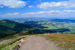 Прикарпатские горы в временени Стоковая Фотография RF