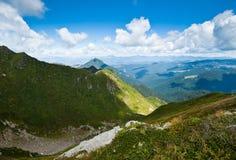 Прикарпатские горы в Украин Стоковое Изображение