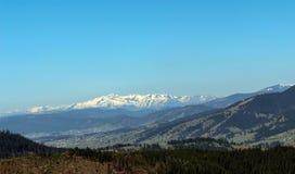 Прикарпатские горы увиденные от Vatra Dornei Стоковое Фото