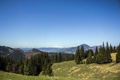 Прикарпатские горы увиденные от Vatra Dornei Стоковое фото RF