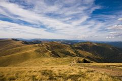 Прикарпатские горы Стоковые Фото