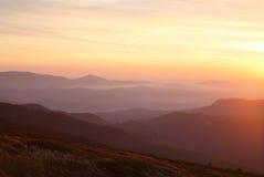 Прикарпатские горы Стоковое Изображение RF