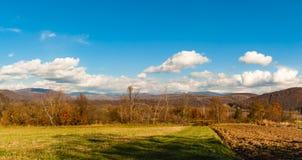 прикарпатский взгляд сверху гор Осень Стоковое Изображение RF