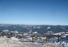 Прикарпатский взгляд зимы Стоковые Изображения
