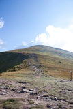 прикарпатский взгляд сверху гор Стоковые Фото