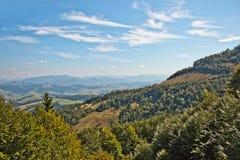 прикарпатский взгляд сверху гор Стоковое Фото