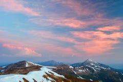 прикарпатский взгляд сверху гор Стоковое Изображение RF
