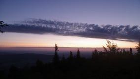 прикарпатский восход солнца гор сток-видео