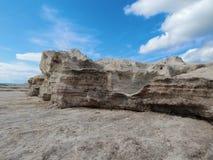 прикаспийский утесистый берег моря Стоковое Изображение